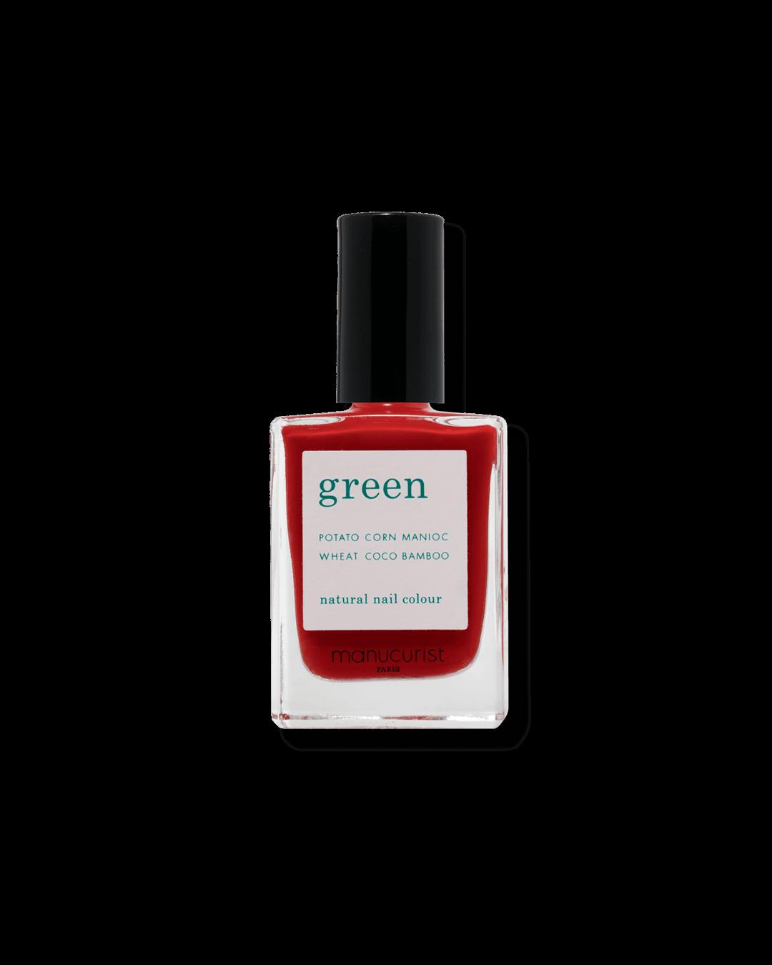 Vernis Green - Poppy Red