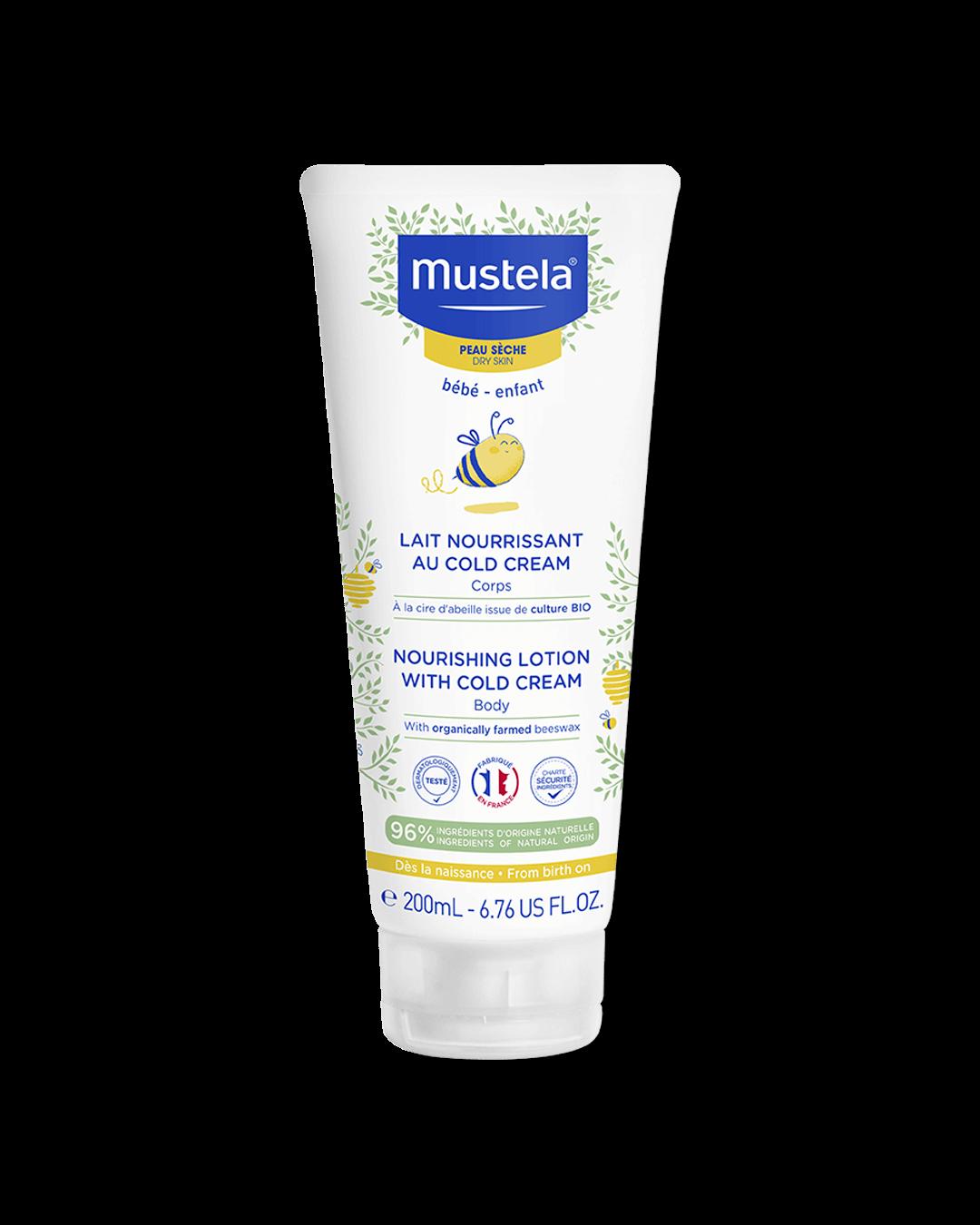Vyživující tělové mléko obohacené o cold cream na suchou pokožku