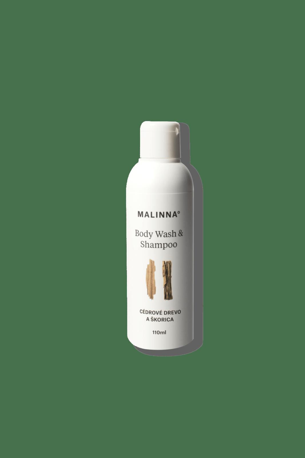 Body Wash&shampoo - Cedrové dvřevo a skořice